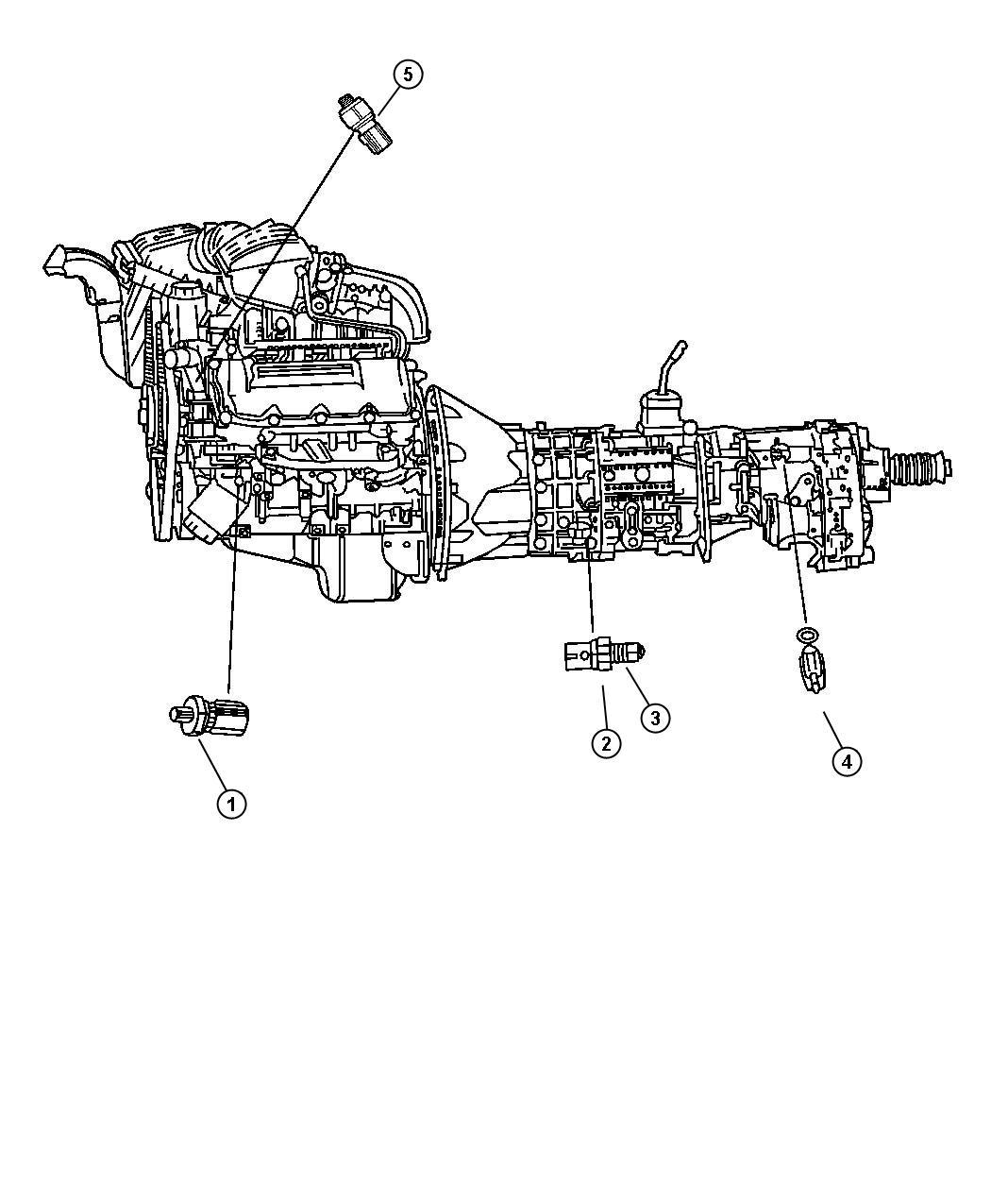 2000 Jeep Grand Cherokee Sending unit, sensor. Oil