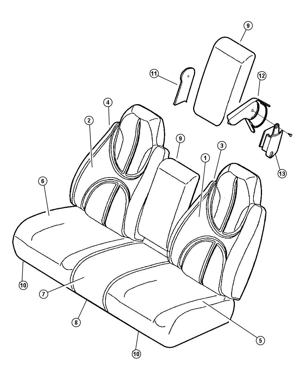 Dodge Ram 1500 Repair kit. Armrest latch. Trim: [cloth 40