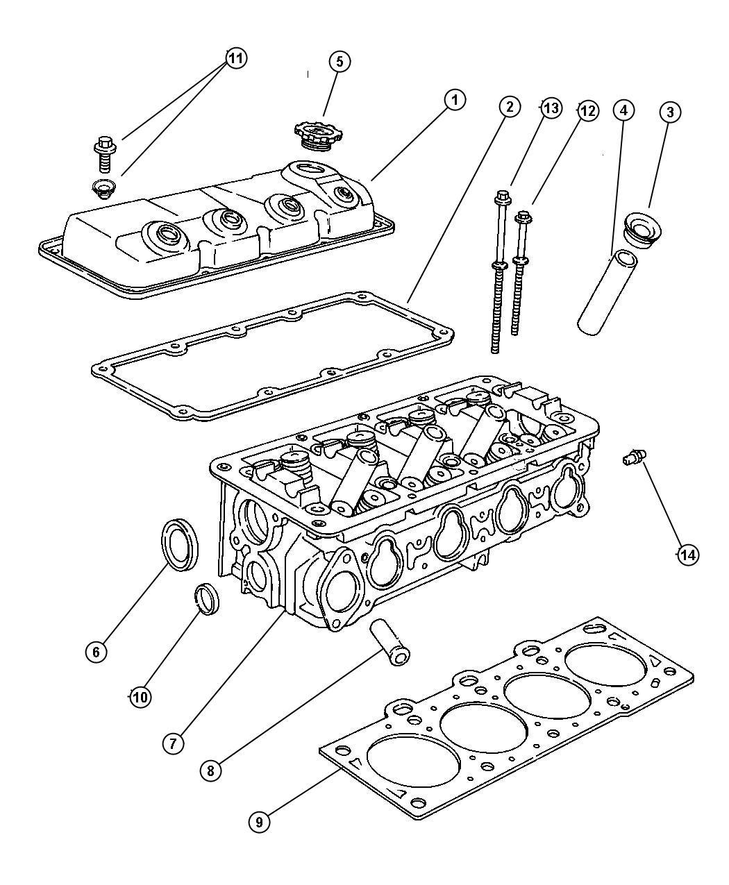 Dodge Journey Seal. Spark plug tube. Left, left cylinder