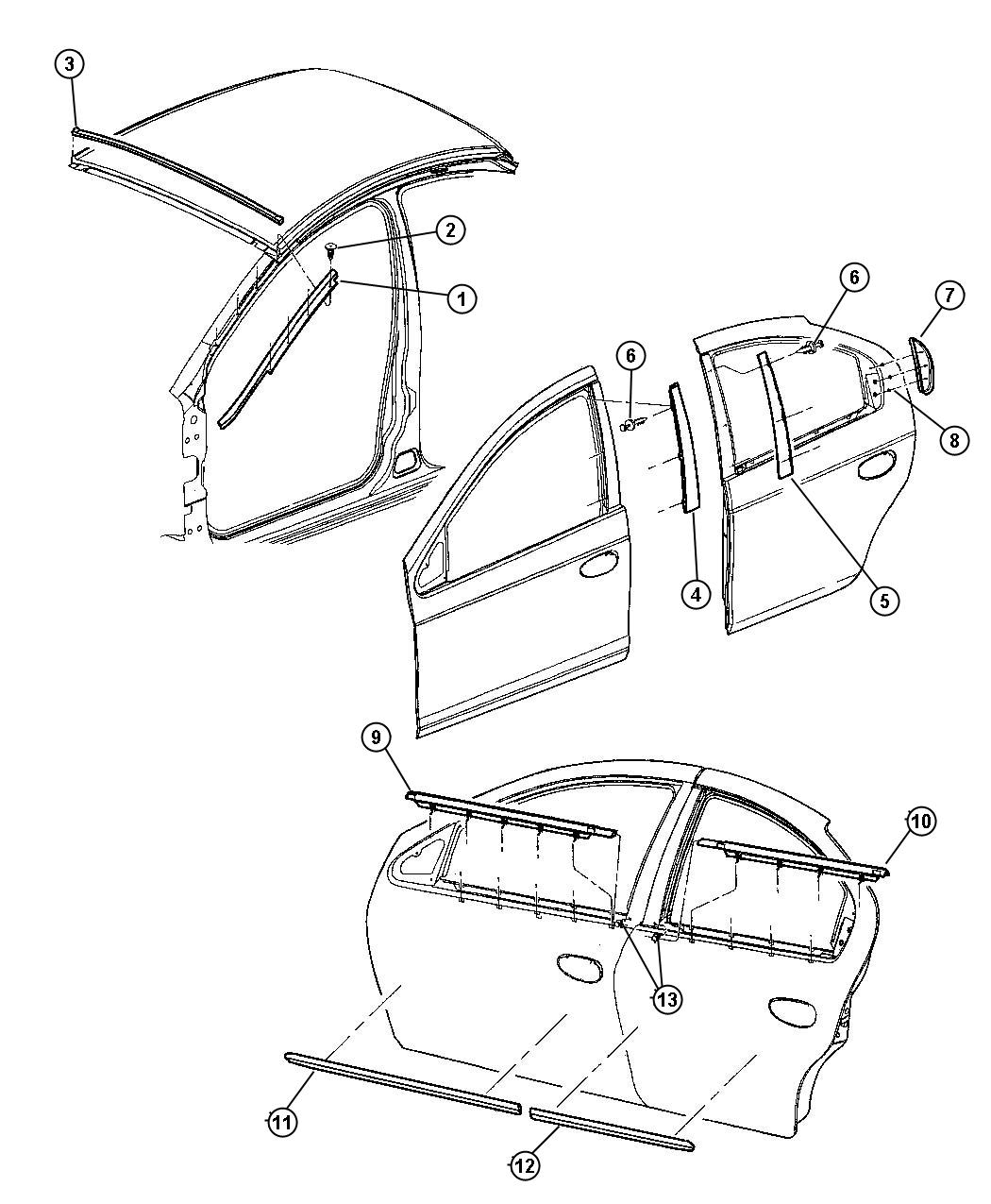 Dodge Caravan Screw And Washer Round Head 164 15x