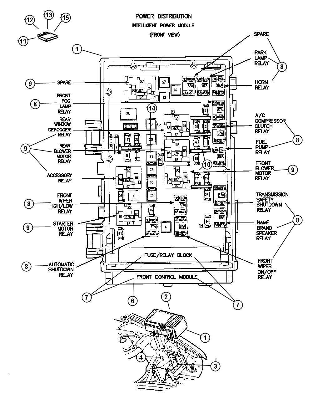 Dodge Grand Caravan Module. Front control. Infinityfog