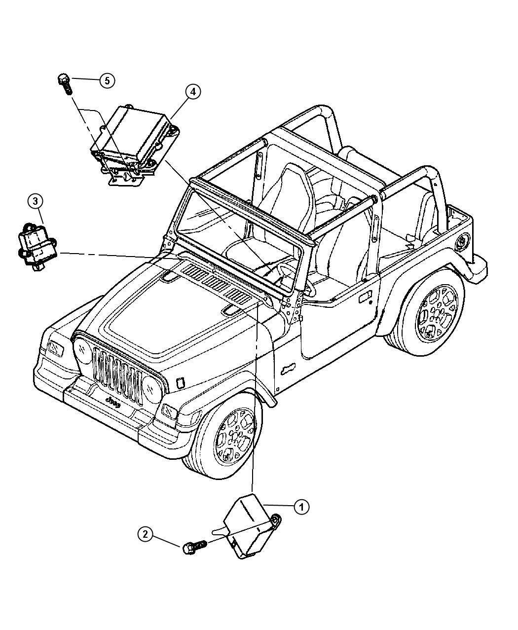 Jeep Wrangler Module. Daytime running lamp