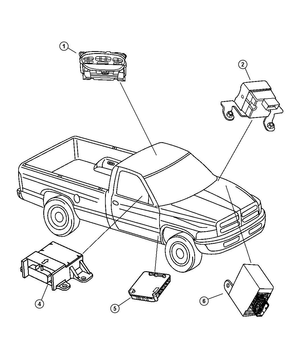 Dodge Ram Module Anti Lock Brakes Bgk 07 05 00
