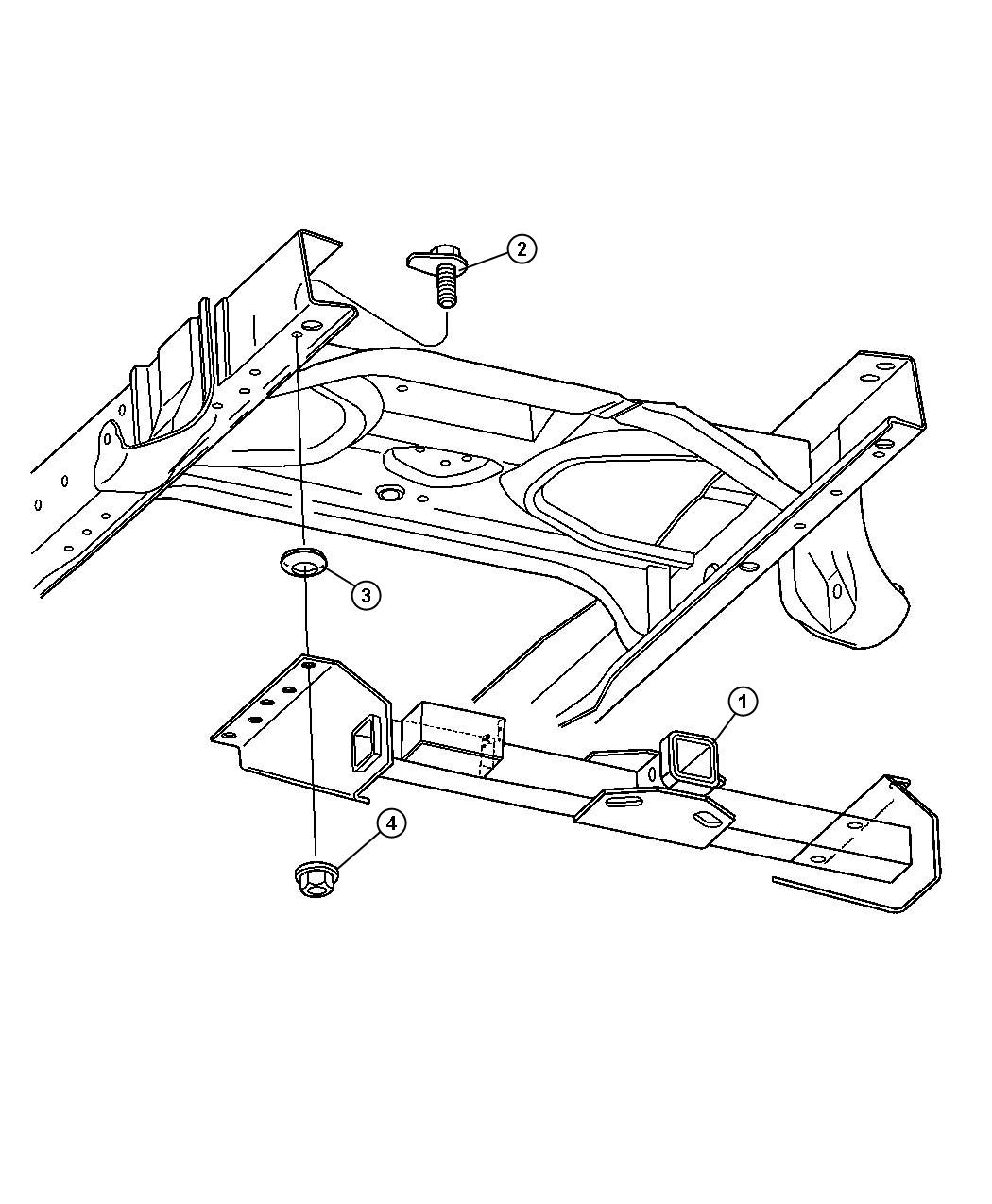 Dodge Ram Receiver Kit Trailer Tow