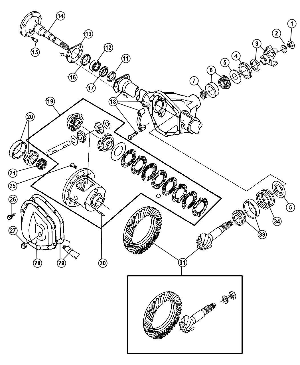 Wiring Diagram Database: Ford F350 Front Hub Assembly Diagram