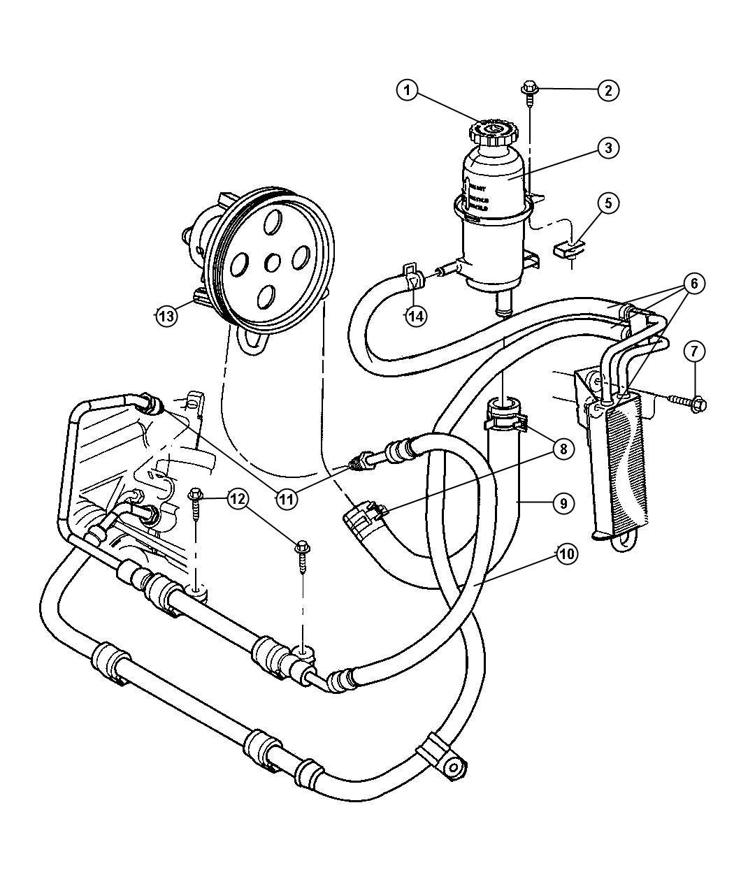 Jeep Patriot Cap Power Steering Reservoir Steering