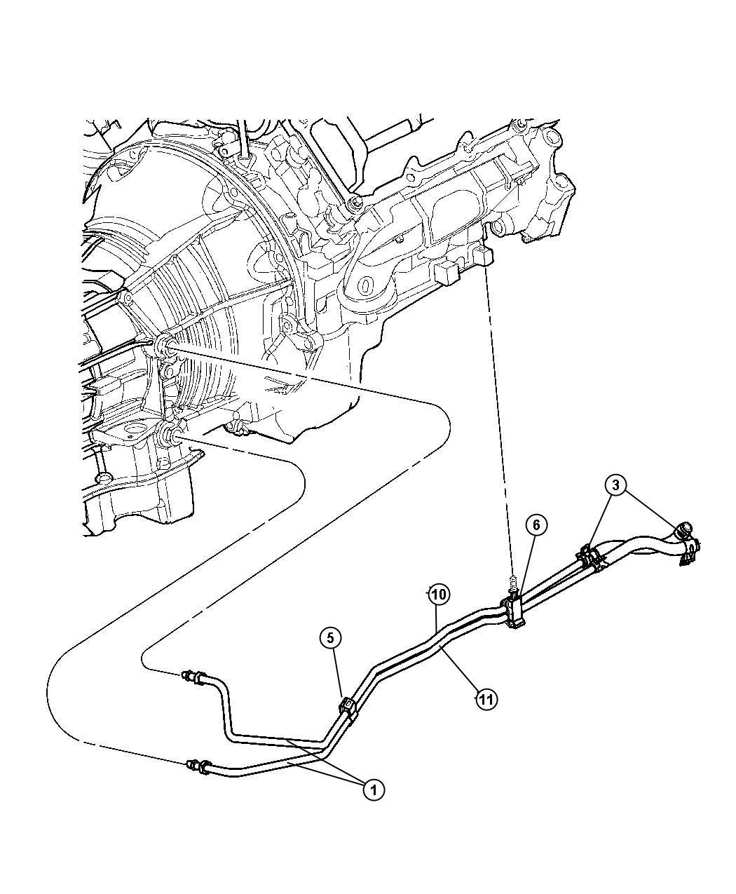 Jeep Liberty Hose Transmission Oil Cooler