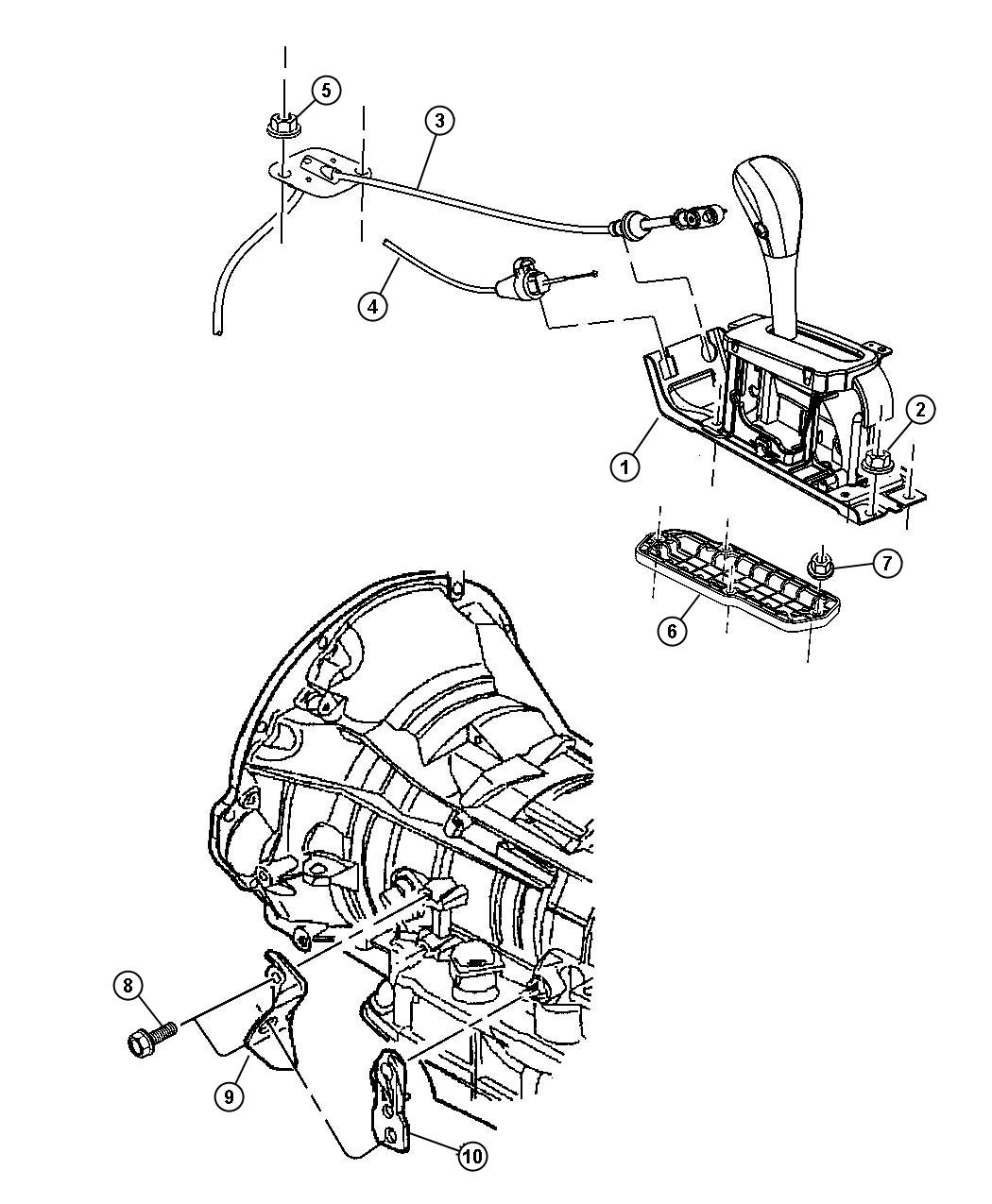 2003 Jeep Liberty Used for: HOUSING AND LEVER. Shifter