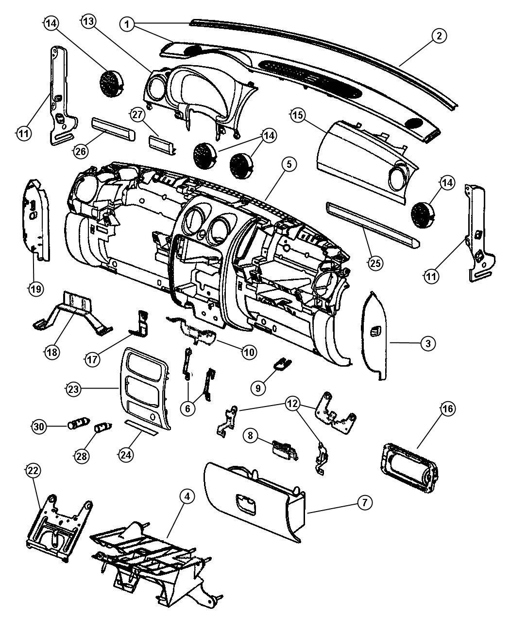 Jeep Liberty Panel. Knee blocker. Trim: [all trim codes