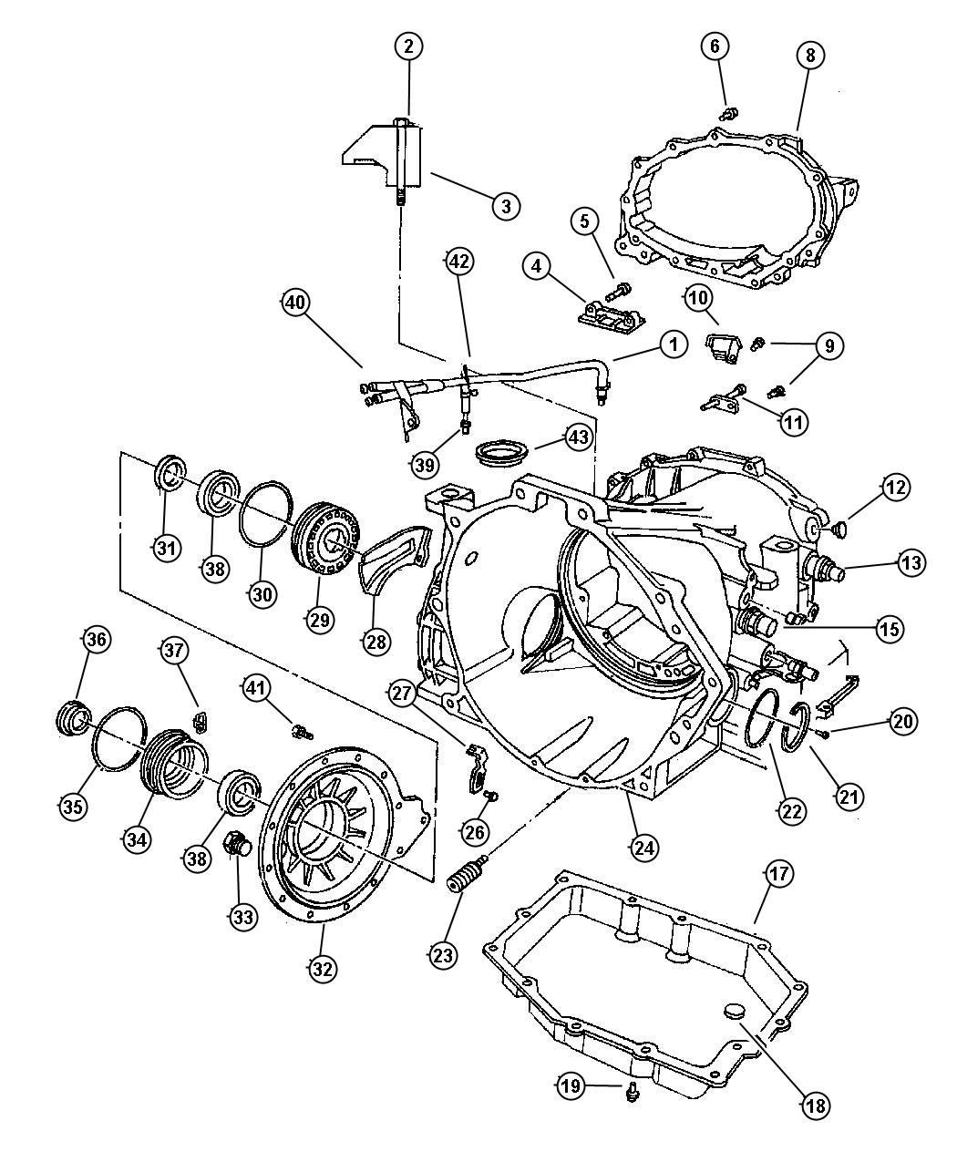 2001 Chrysler Concorde Cover. Transaxle differential