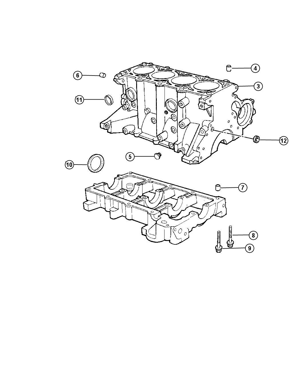 Jeep Liberty Seal Rear Main Crankshaft