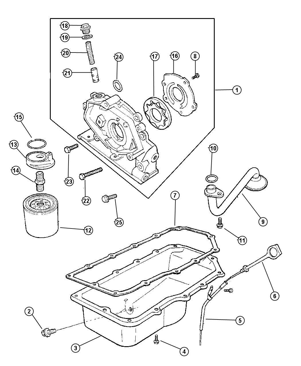 Dodge Neon O Ring Oil Filter Adapter O Ring Oil Filter