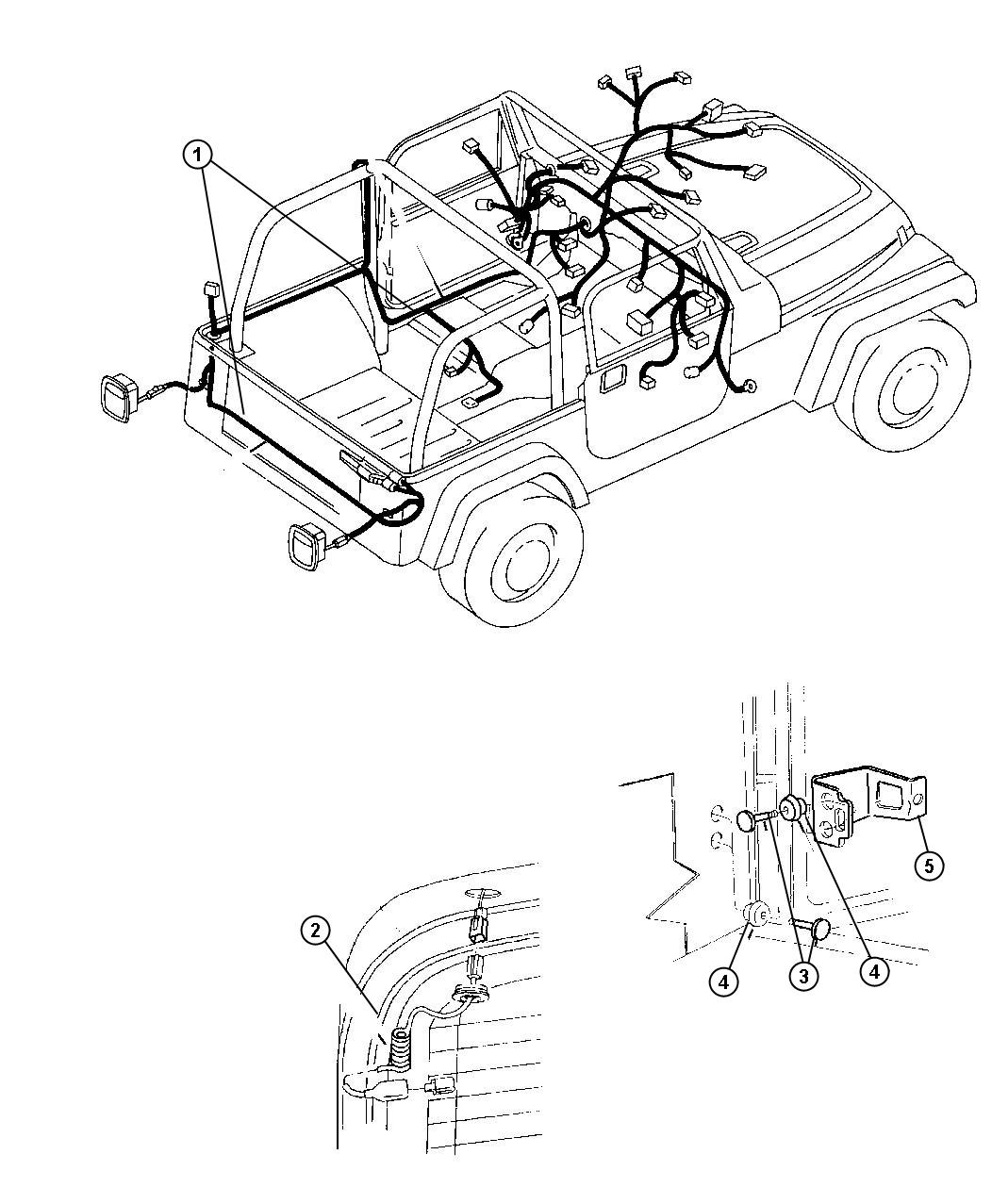 Jeep Wrangler Clamp. Contact button. Contact cover pn