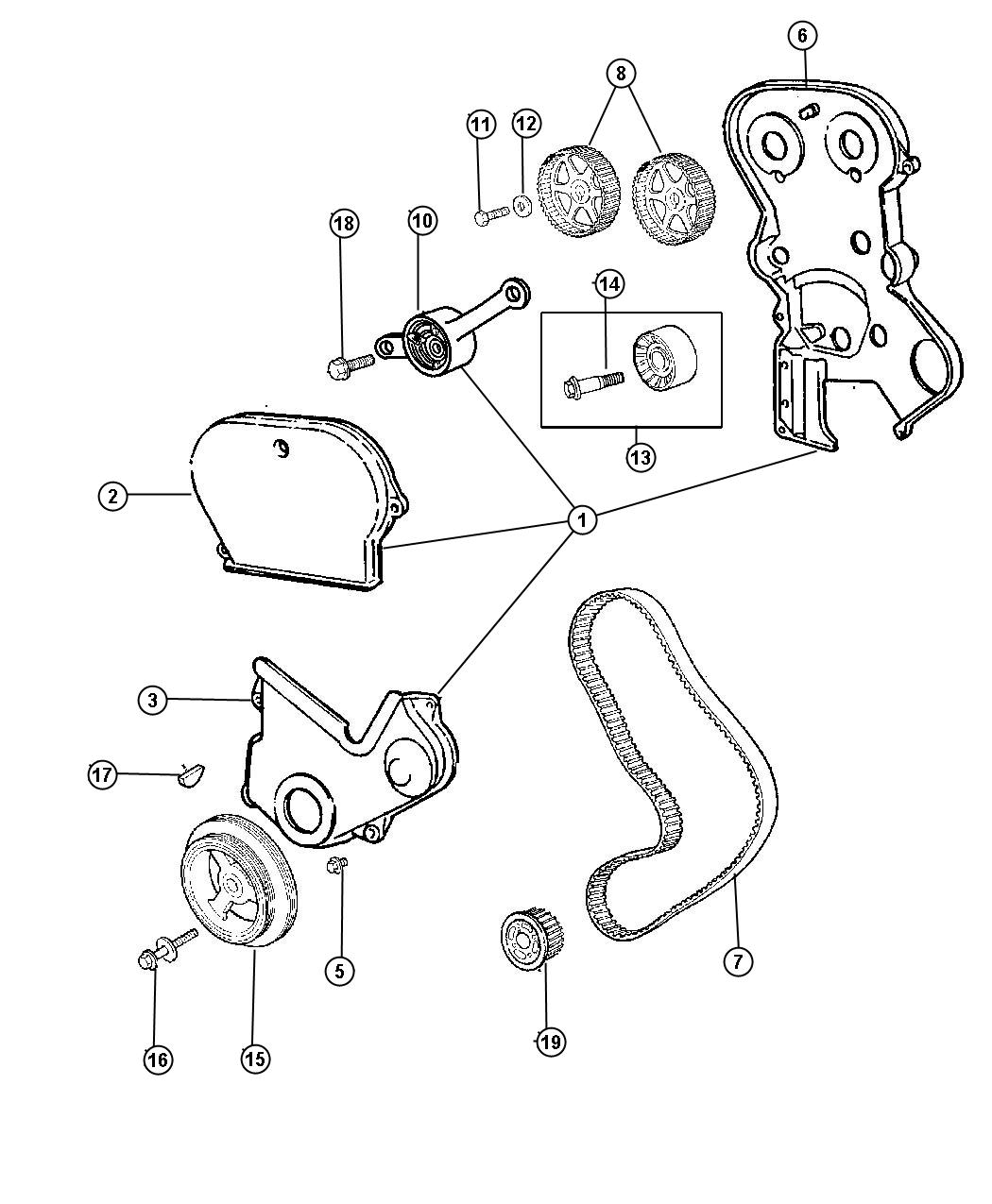 Chrysler Town & Country Damper. Engine vibration. Ecm