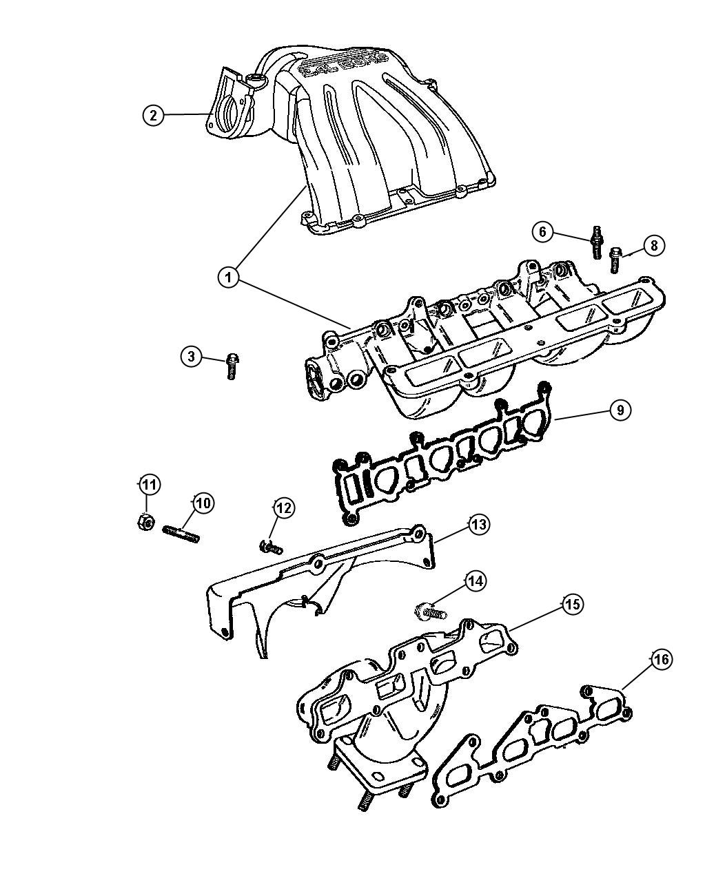 Jeep Liberty Gasket Throttle Body Throttle Body To