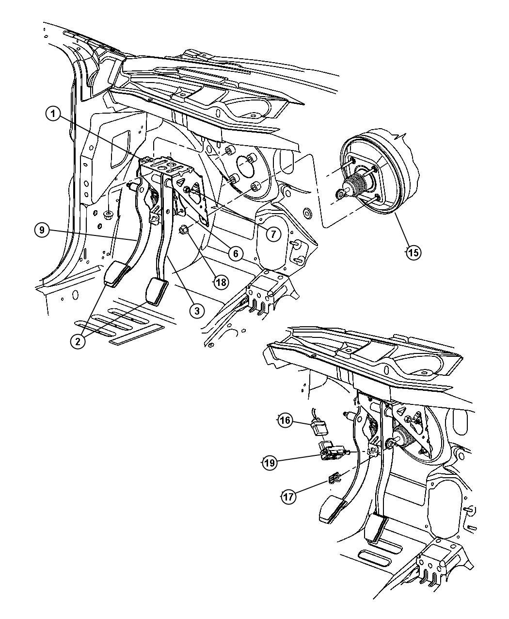 Service manual [2003 Chrysler Pt Cruiser Clutch Pedal