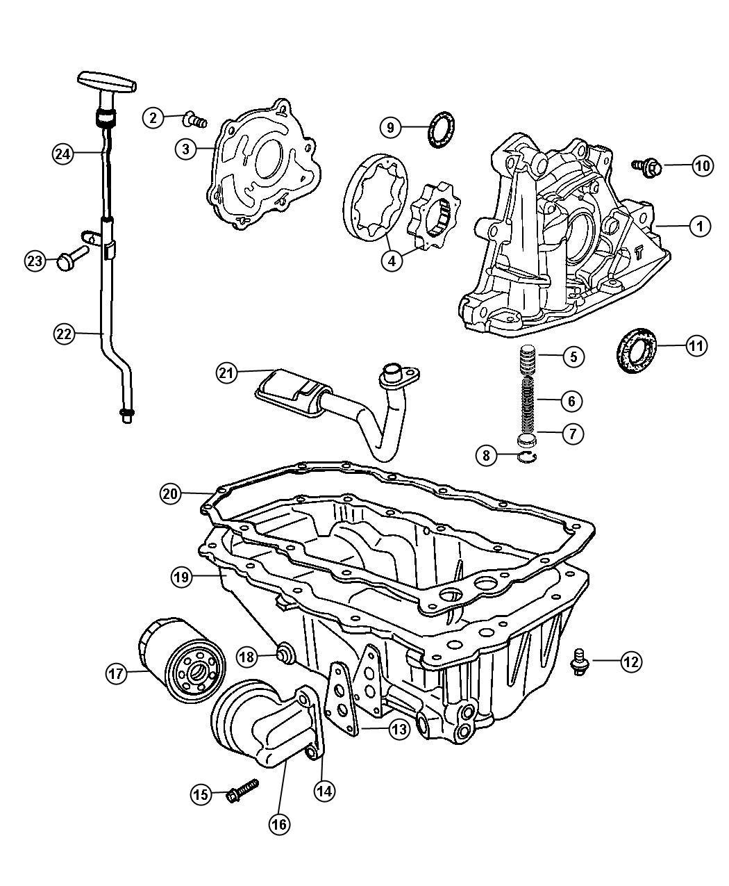 Chrysler Pt Cruiser Gasket. Oil filter adapter