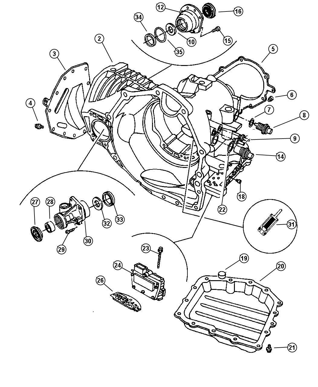 Dodge Neon Sensor Transmission Output Speed Drivetrain