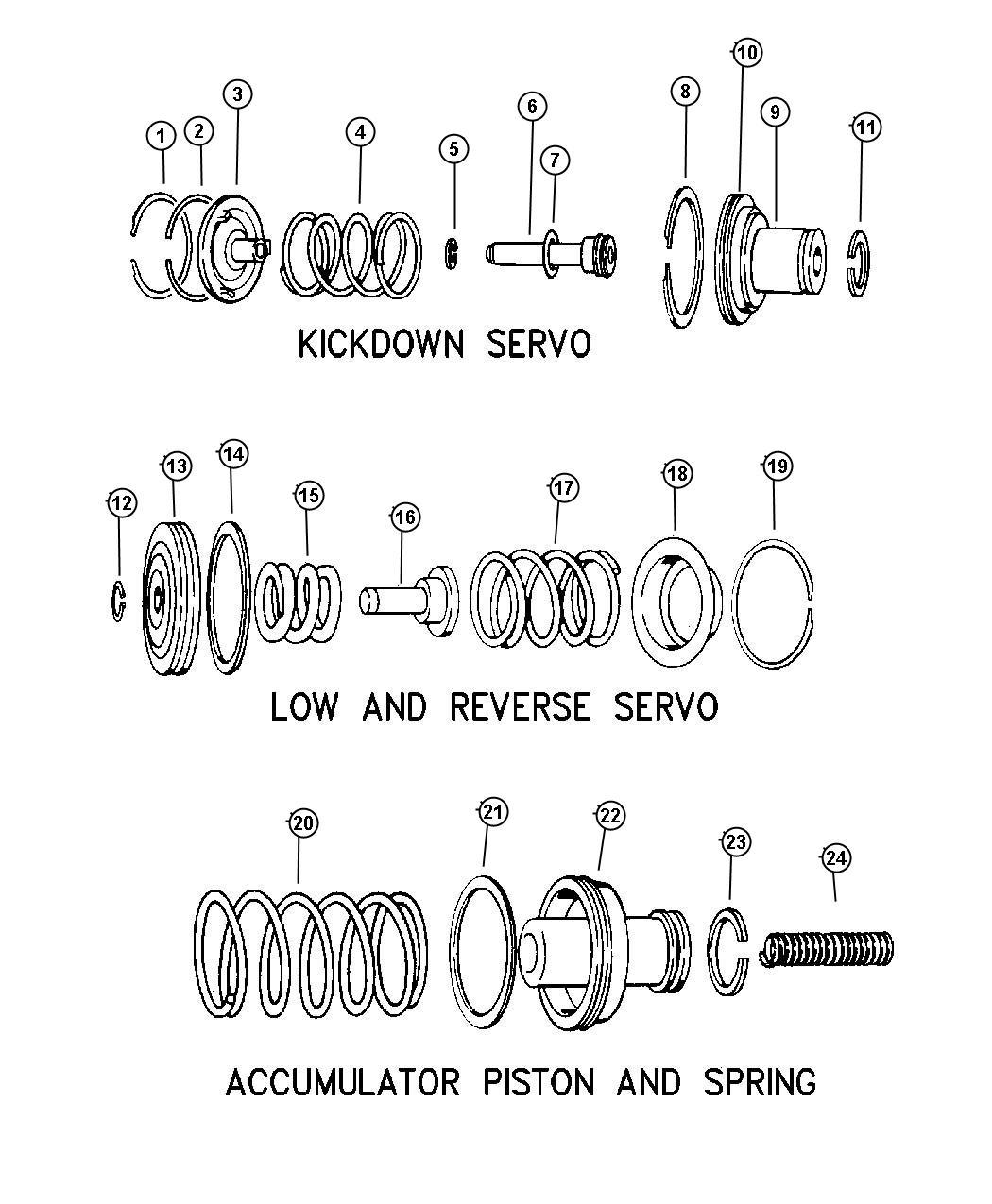 Jeep Grand Cherokee Spring Transmission Accumulator