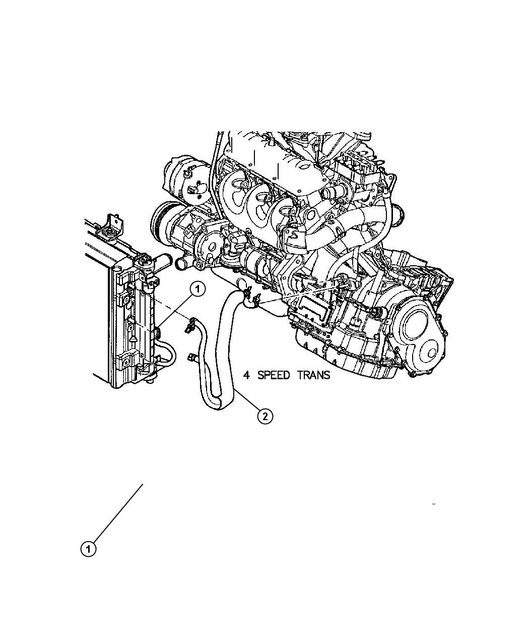 2001 Dodge Stratus Connector kit. Transmission oil cooler