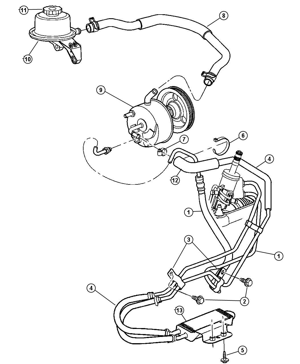 Chrysler Town Amp Country Cooler Power Steering