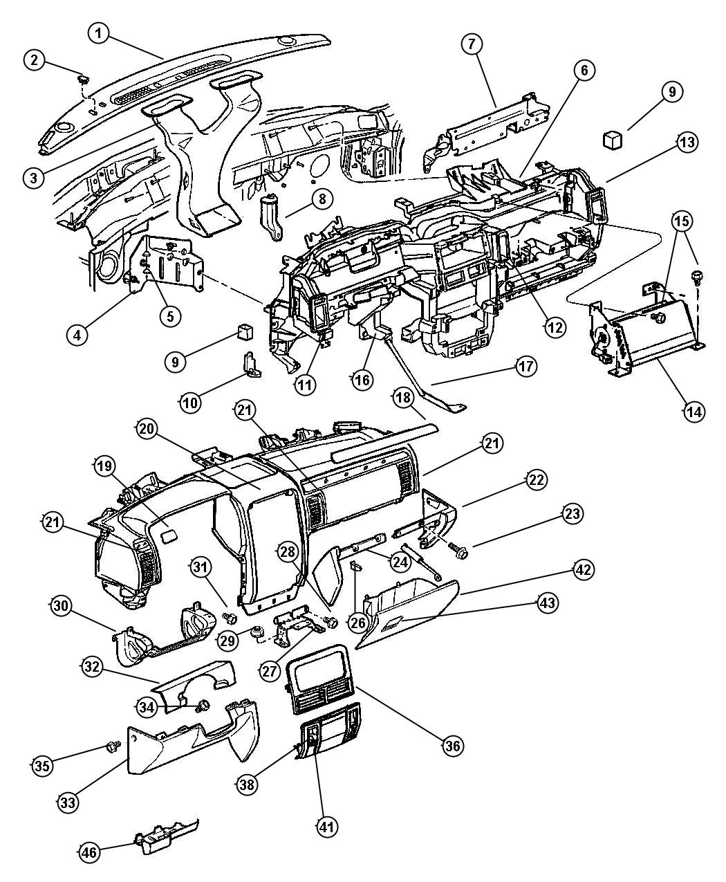 2004 Jeep Grand Cherokee Bezel. Driver. Instrument panel