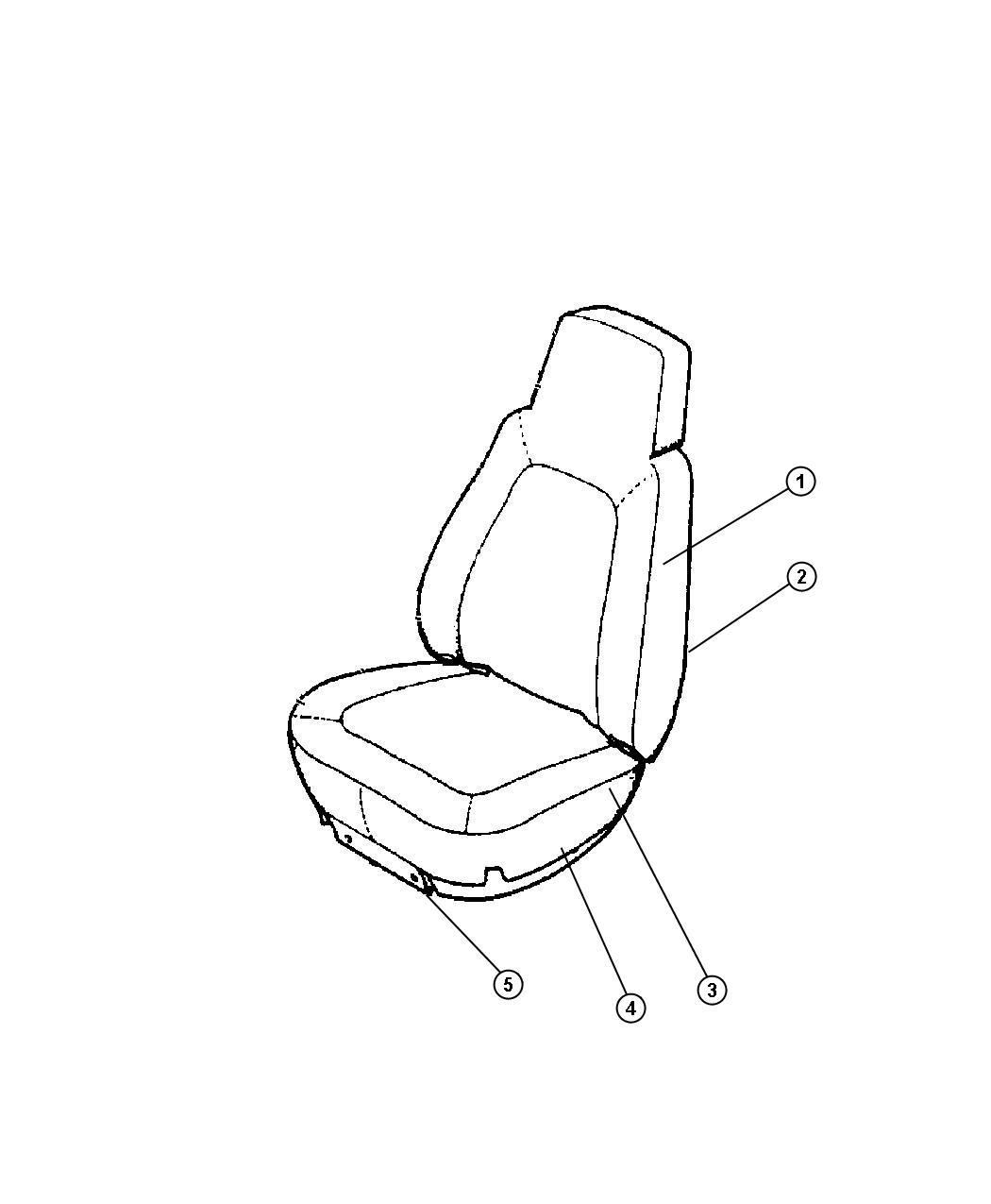 Jeep Grand Cherokee Foam Left Seat Cushion Trim