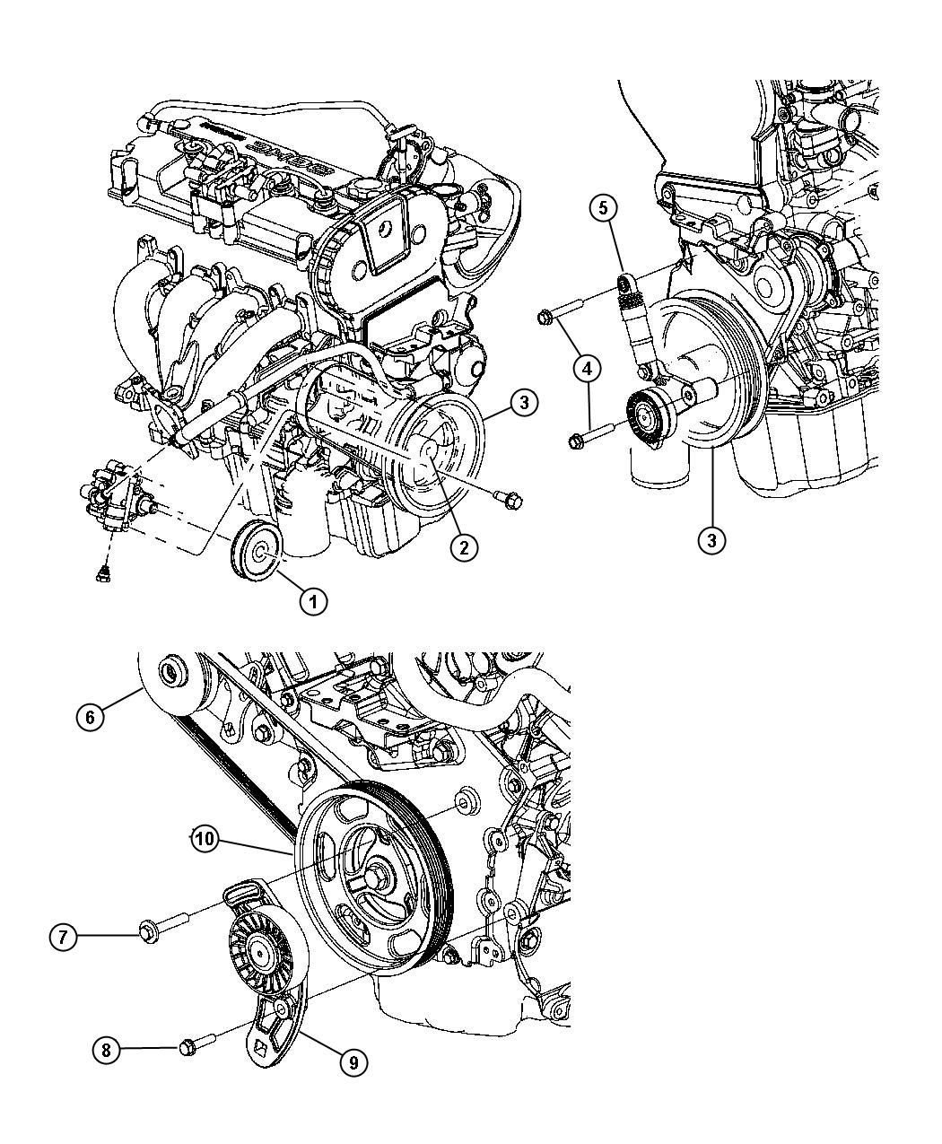 2004 chrysler sebring 2.7l engine diagram