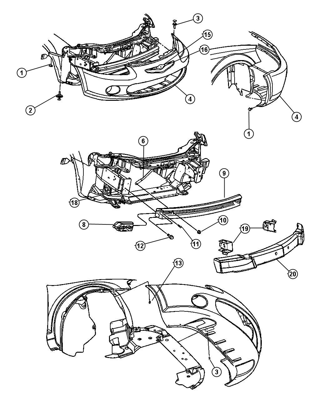 2002 Chrysler Sebring Parts Diagram Bumper. Chrysler. Auto