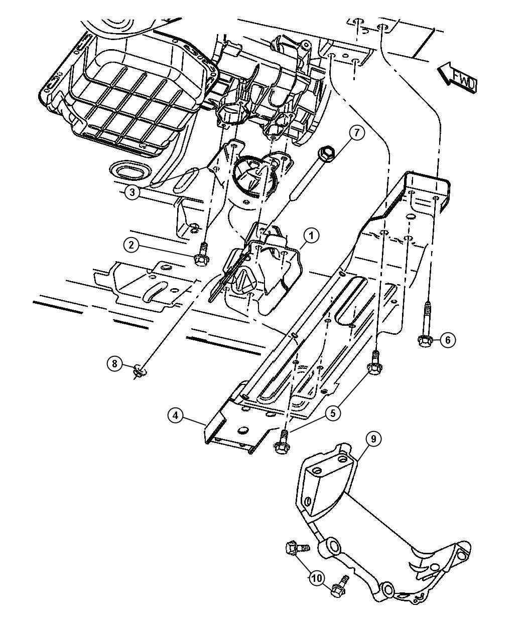 2001 Jeep Grand Cherokee Bolt. Evaevc, mountingrear