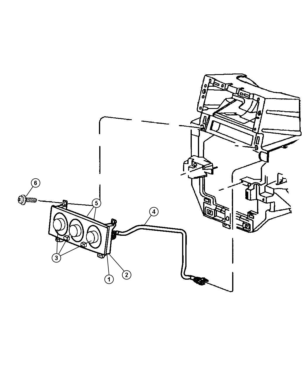 Jeep Grand Cherokee Vacuum Harness Heater And A C