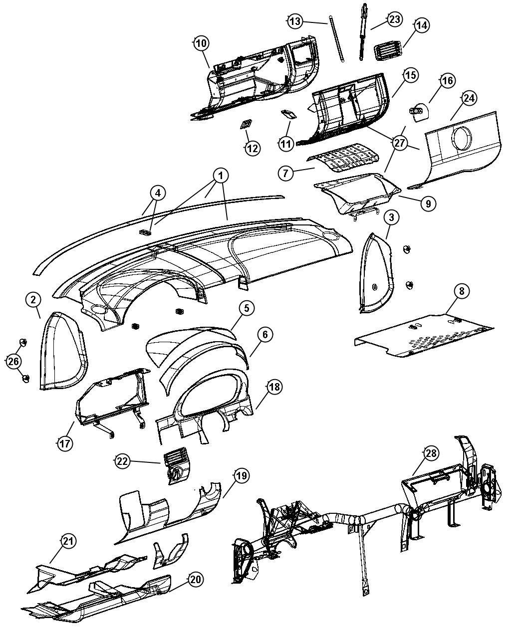 Chrysler Crossfire Cover. Export. Instrument panel