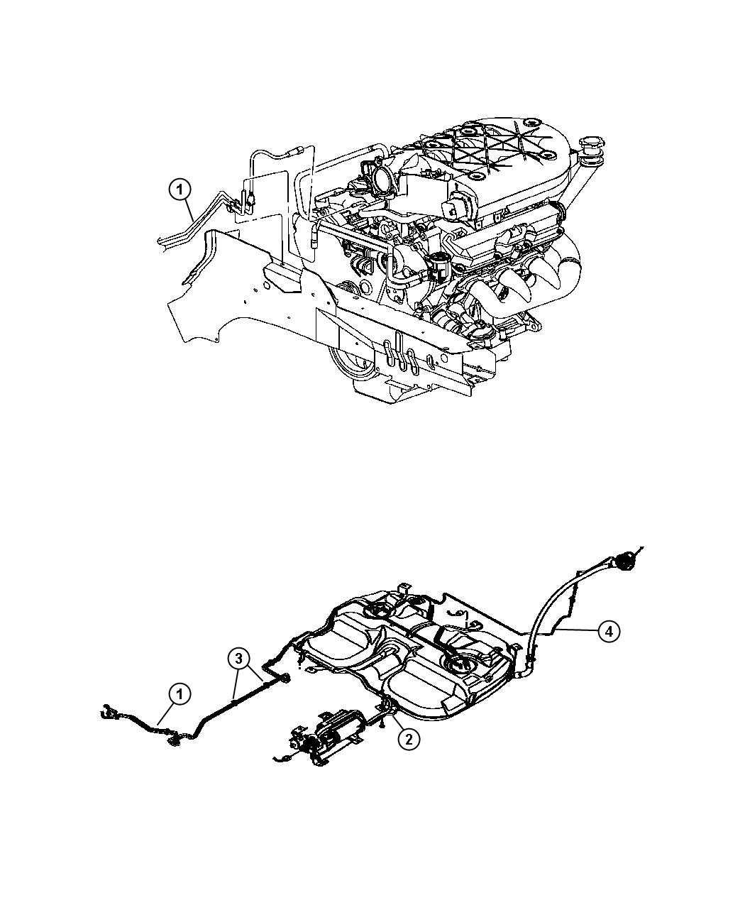 Chrysler Pacifica Fuel Lines 3 5l V6 24v Mpi Engine