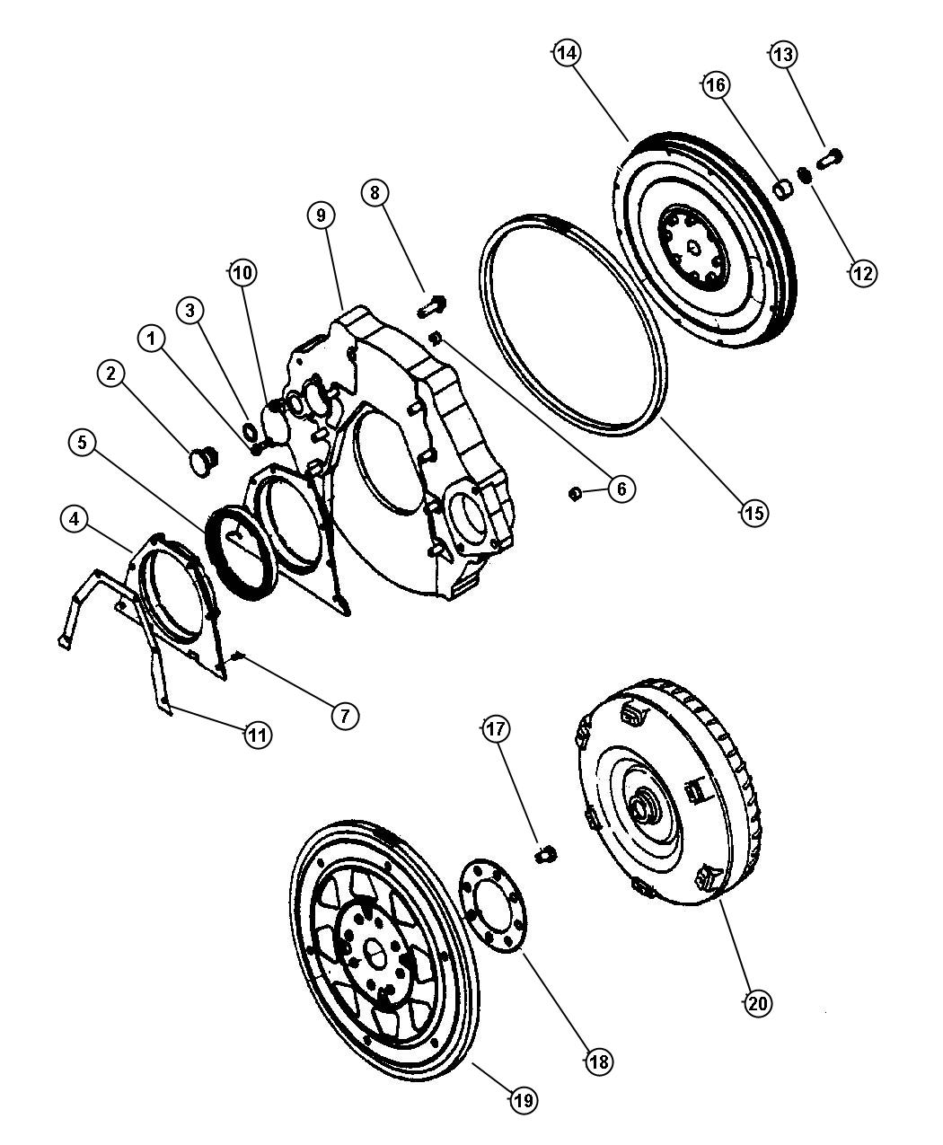 Flywheel and Torque Converter.