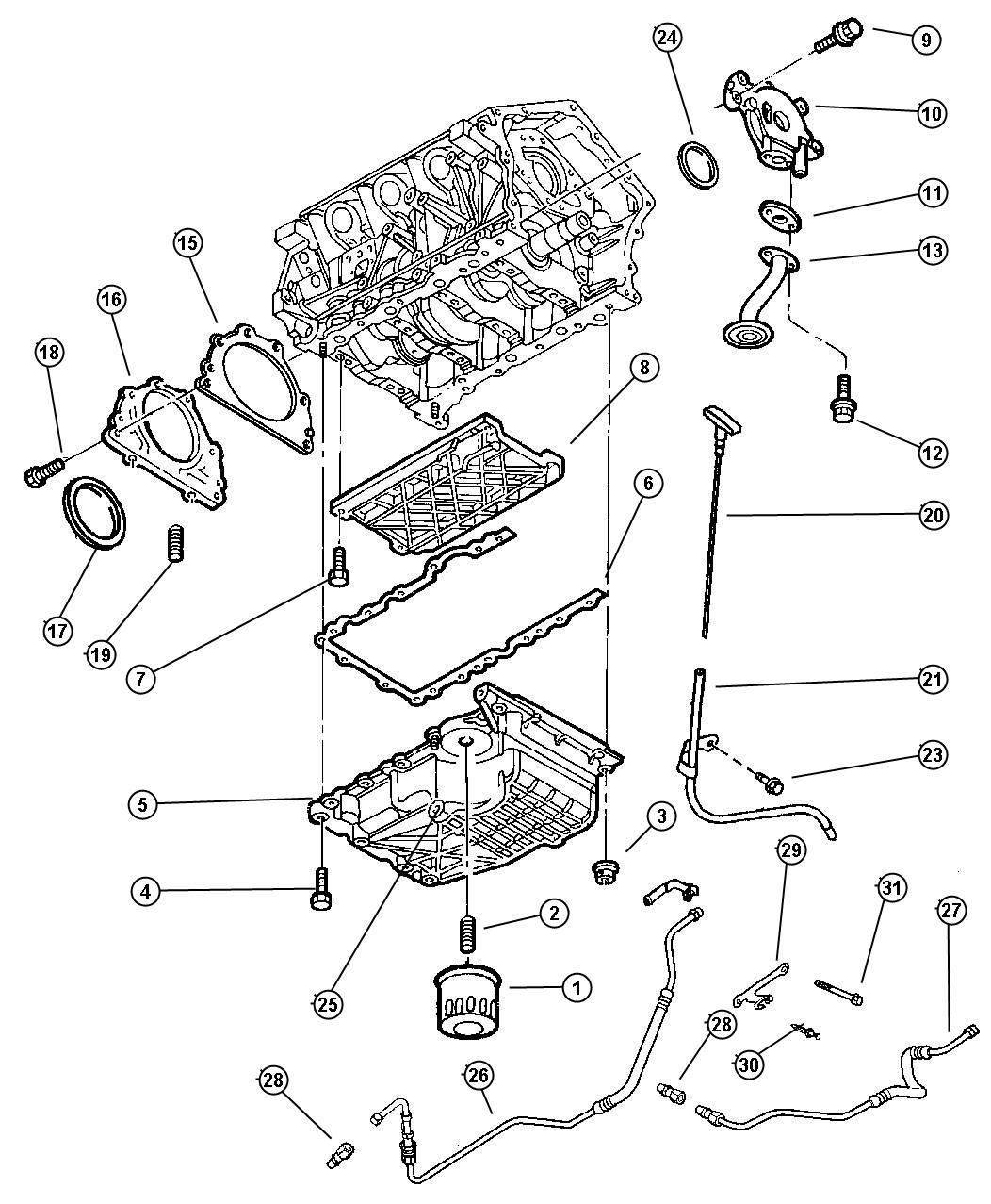 Chrysler Concorde Engine Oiling 2 7l Engine
