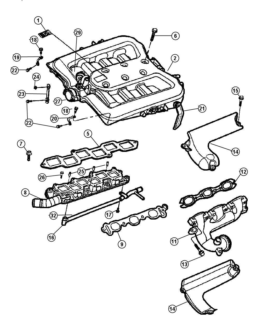 Chrysler 300 Actuator. Manifold tuning valve. Contains an