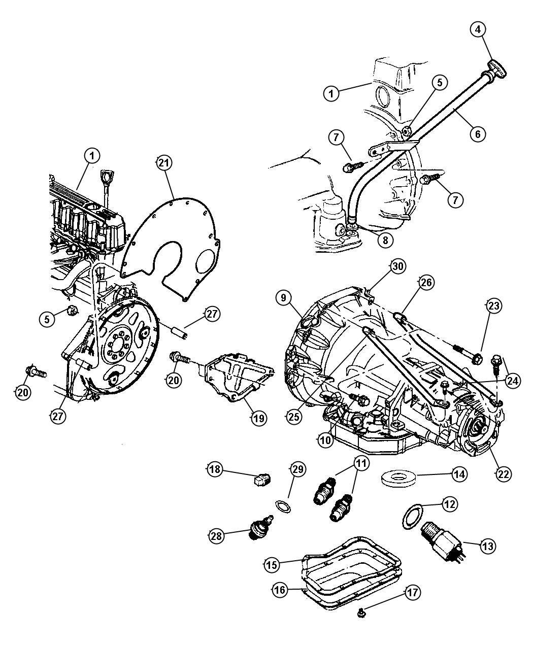 1995 Jeep Grand Cherokee Sensor. Transmission output speed