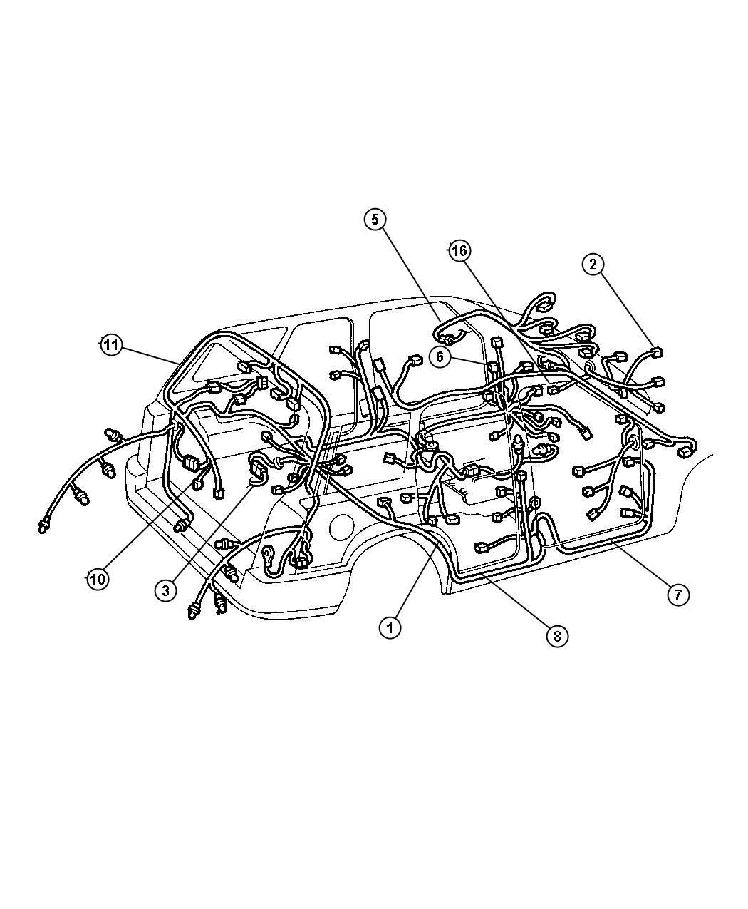 Jeep Liberty Adapter, converts 7-way round to 4-way flat