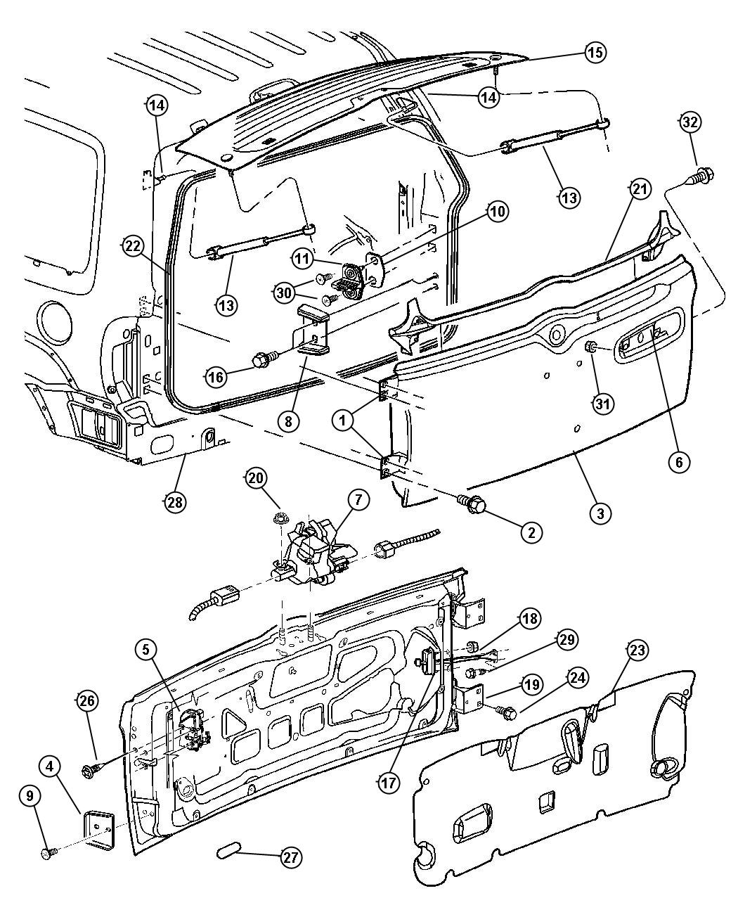 Diagram For Jeep Cherokee Door