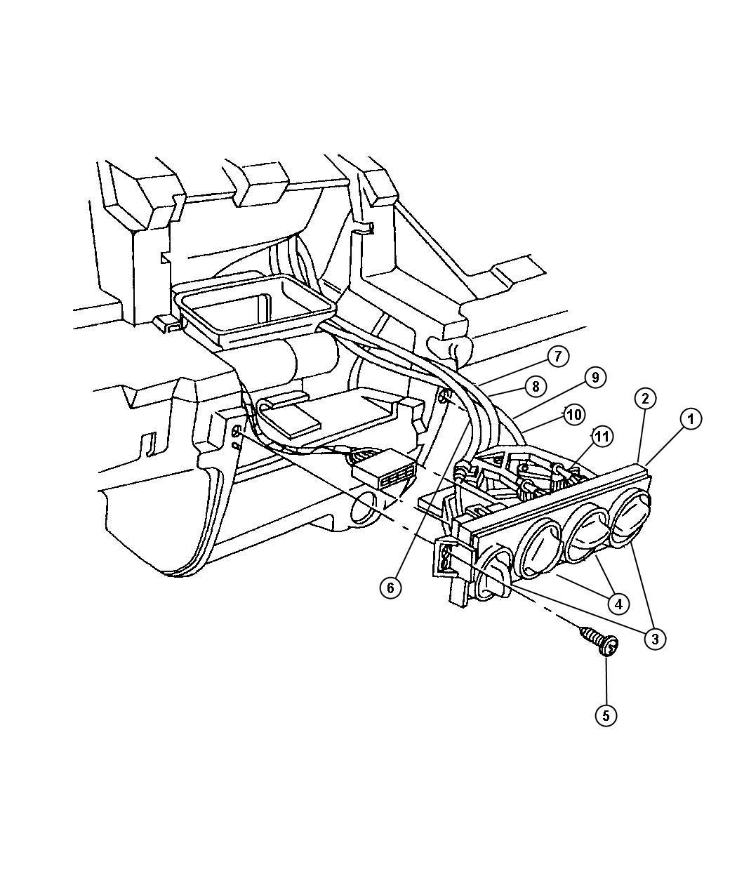 Chrysler Pt Cruiser Cable. Heater. Temperature control