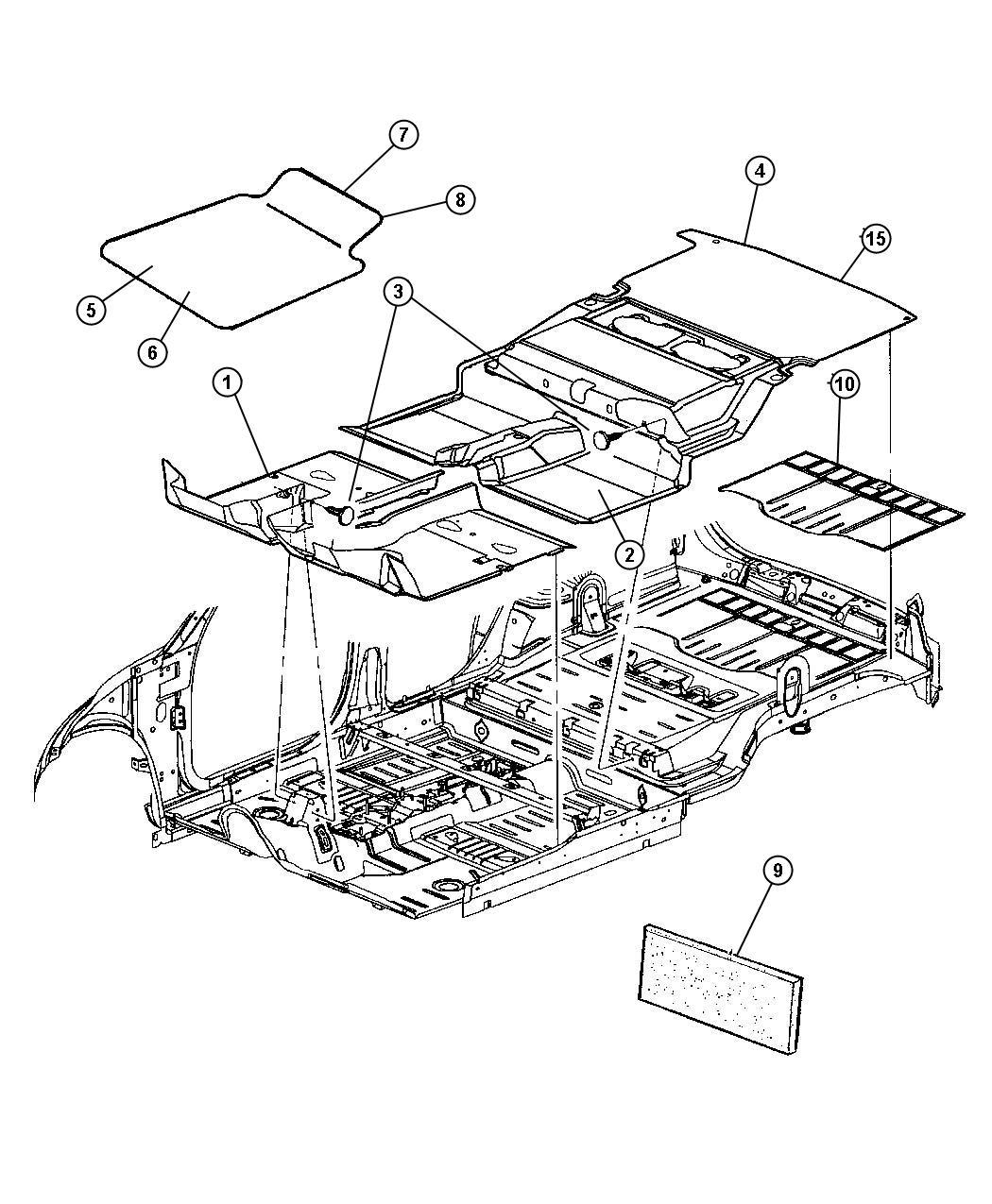 Chrysler Pt Cruiser Mat. Floor. Trim: [all trim codes