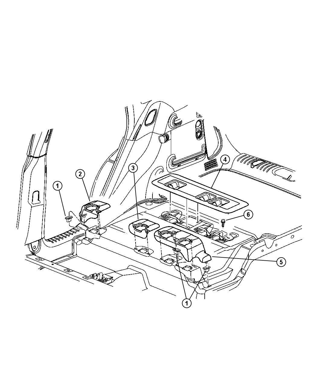 Chrysler Pt Cruiser Bezel. Seat pivot. Center. [fl], taupe