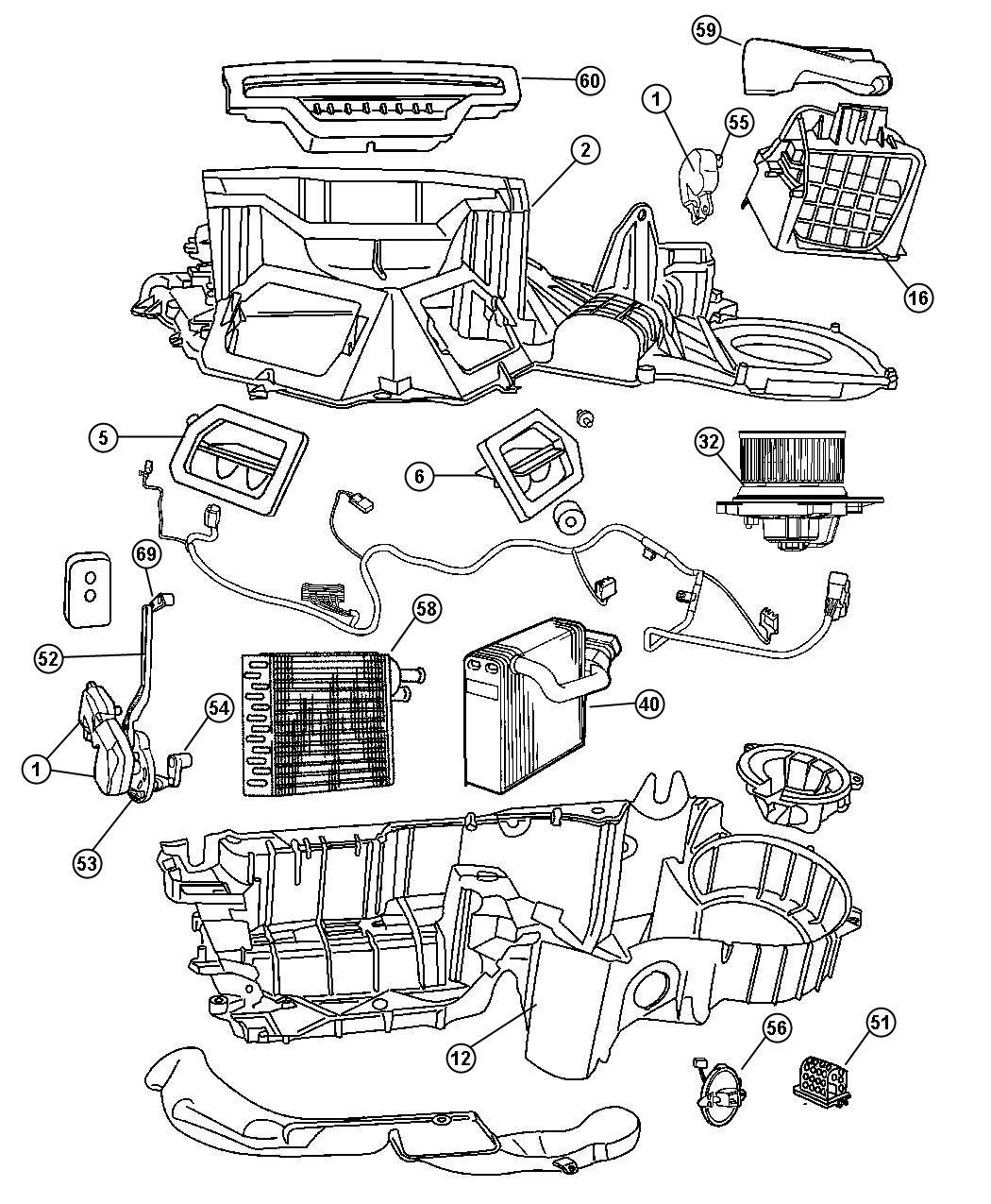 Dodge Dakota Heater And Air Conditioning Unit