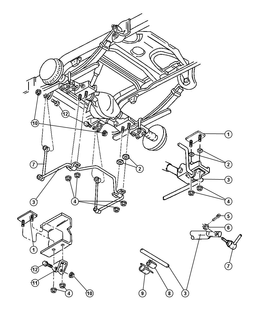 Dodge Ram Retainer Stabilizer Bar Bushing