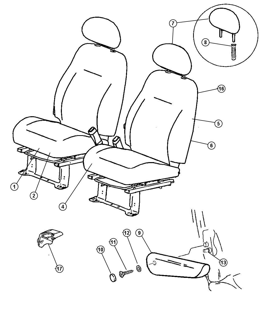 Jeep Grand Cherokee Foam Left Seat Cushion Trim Ul
