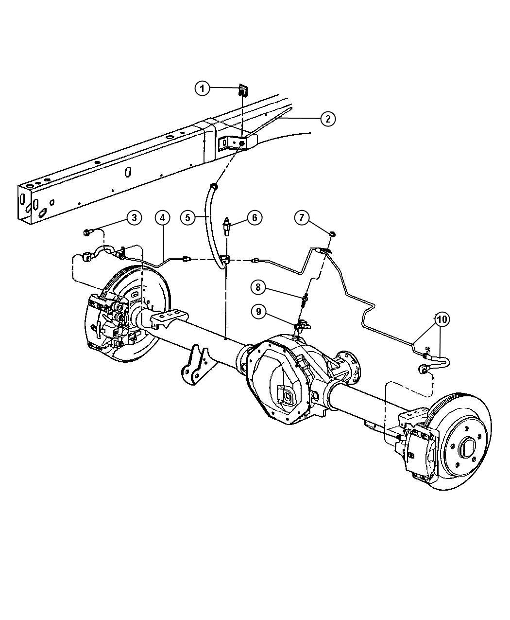 Lines and Hoses,Brake,Rear,with Rear Disc Brakes.
