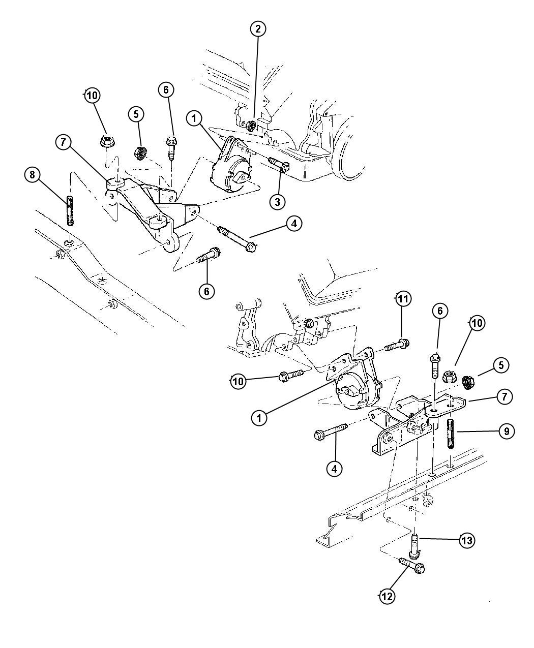 Dodge Nitro Bolt. Mounting. Hex flange head. M12x1.75x40