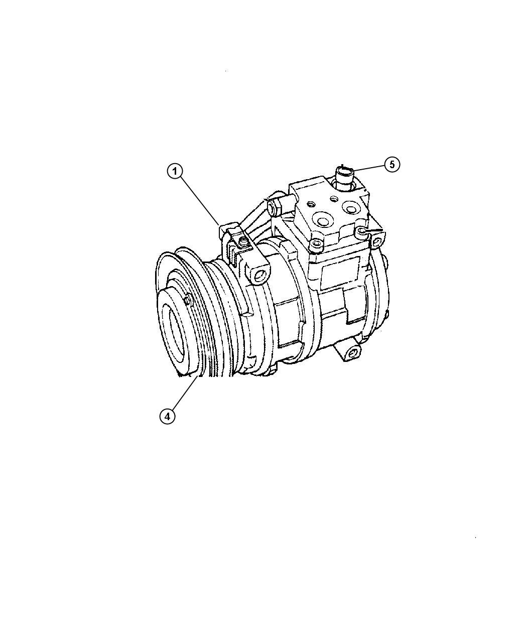 2002 Dodge Clutch overhaul kit. A/c compressor. Automatic