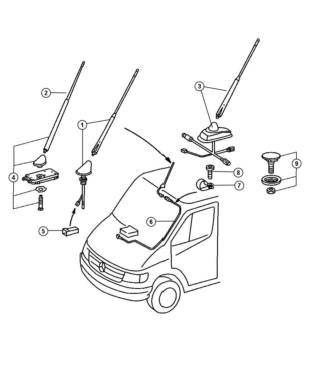 Mercedes sprinter radio antenna