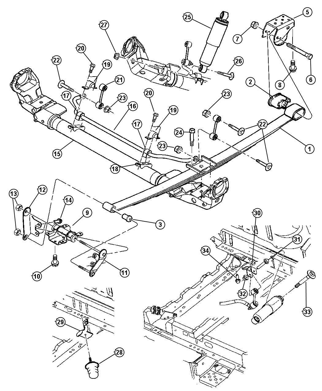 Dodge Ram Coil Spring Rear Suspension Diagram